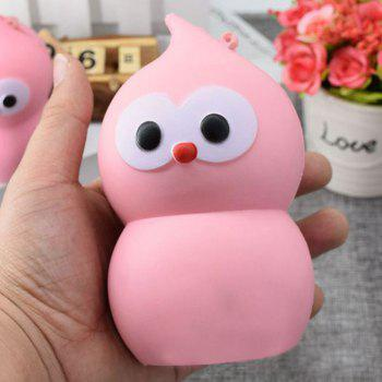 Lovely Simulation Gourd PU Slow Rising Squishy Toy - PINK PINK