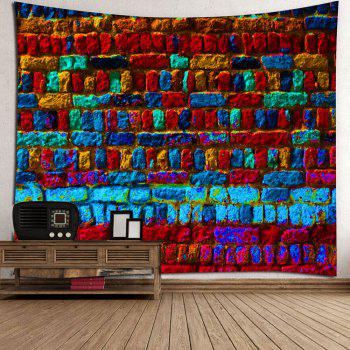 Colorful Brick Print Wall Art Tapestry - COLORFUL W79 INCH * L71 INCH