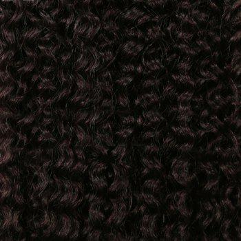 Medium Shaggy Deep Wave Synthetic Hair Weft - DARK AUBURN BROWN