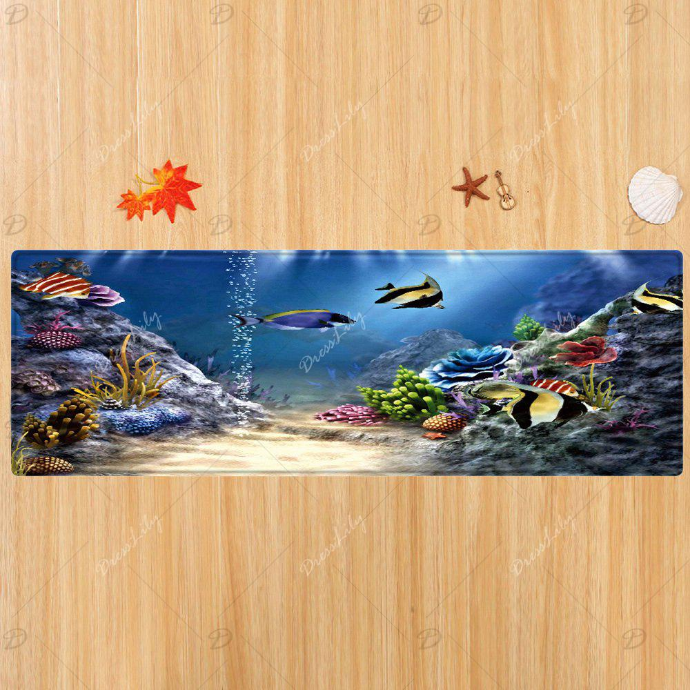 Moquette sous-marine World Pattern Indoor Outdoor - multicolorcolore W24 INCH * L71 INCH