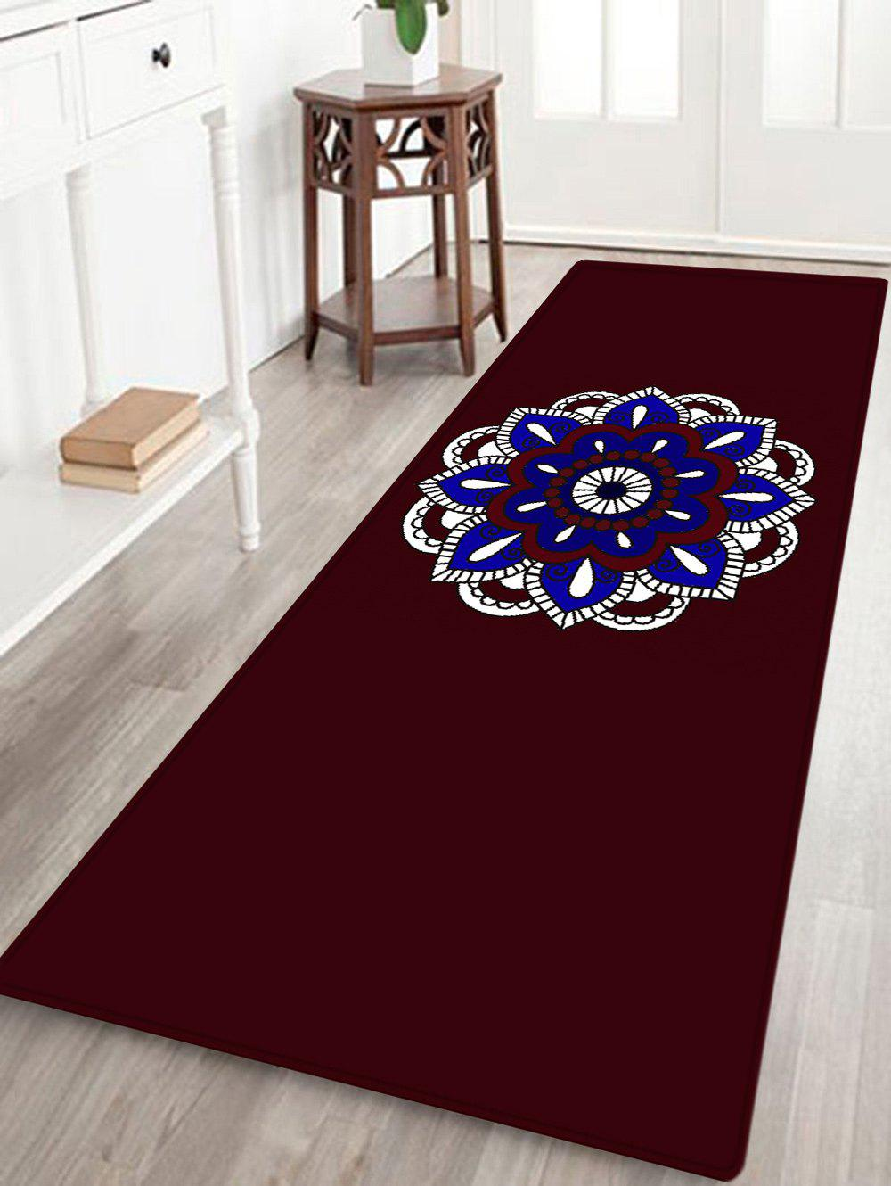 Mandala Bohemian Pattern Anti-skid Indoor Outdoor Area Rug - multicolorcolore W16 INCH * L47 INCH