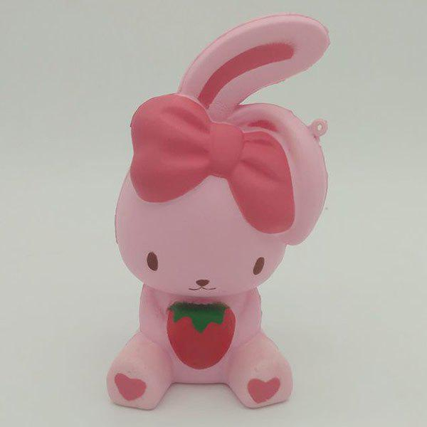 Simulation Animal Slow Rising Squishy Rabbit Toy - PINK
