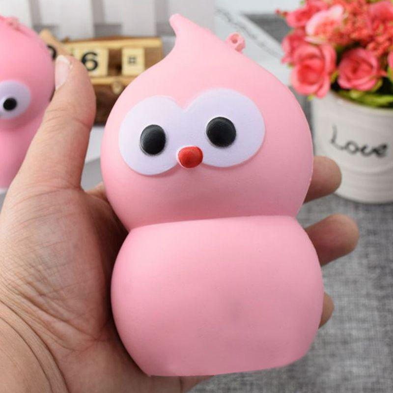 Lovely Simulation Gourd PU Slow Rising Squishy Toy - ROSE PÂLE 14CM*7.5CM