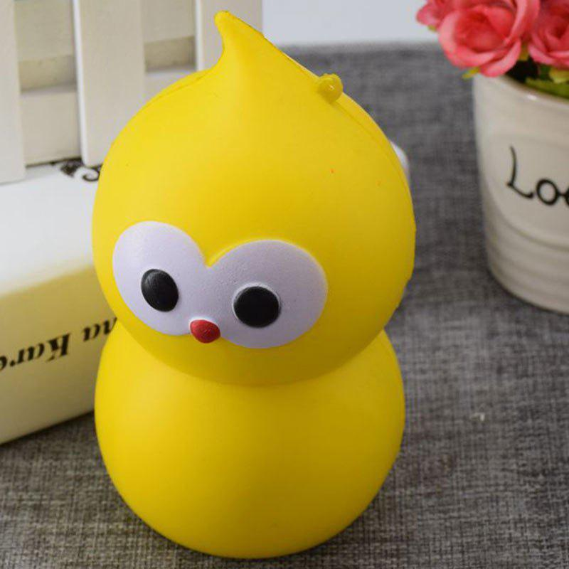 Lovely Simulation Gourd PU Slow Rising Squishy Toy - Jaune 9.5CM*5.5CM
