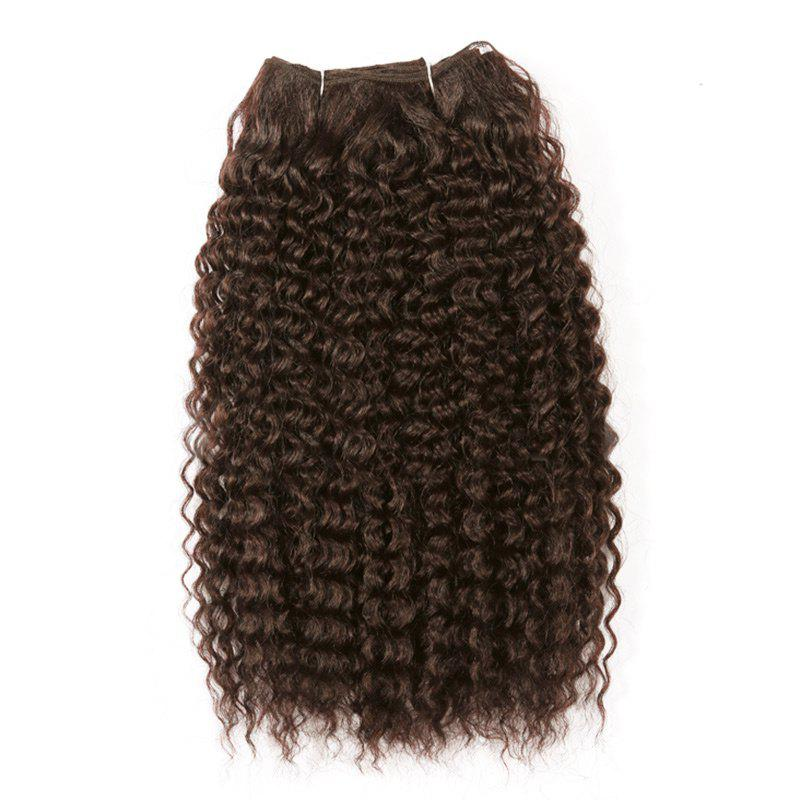 Medium Shaggy Deep Wave Synthetic Hair Weft - brun foncé