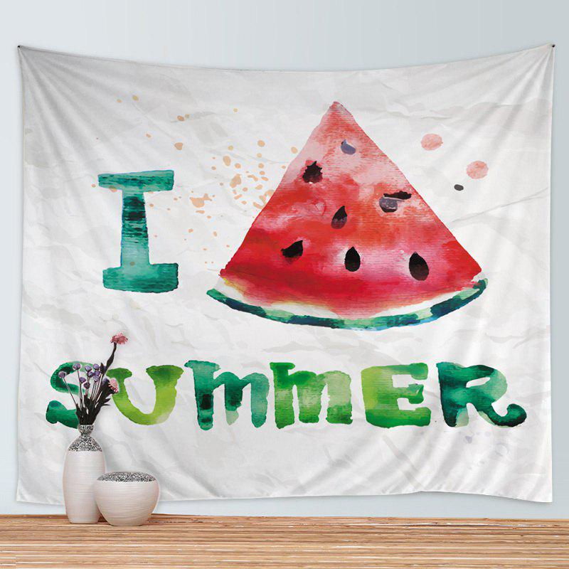 Wall Hanging Art Watermelon Summer Print Tapestry - COLORMIX W79 INCH * L59 INCH