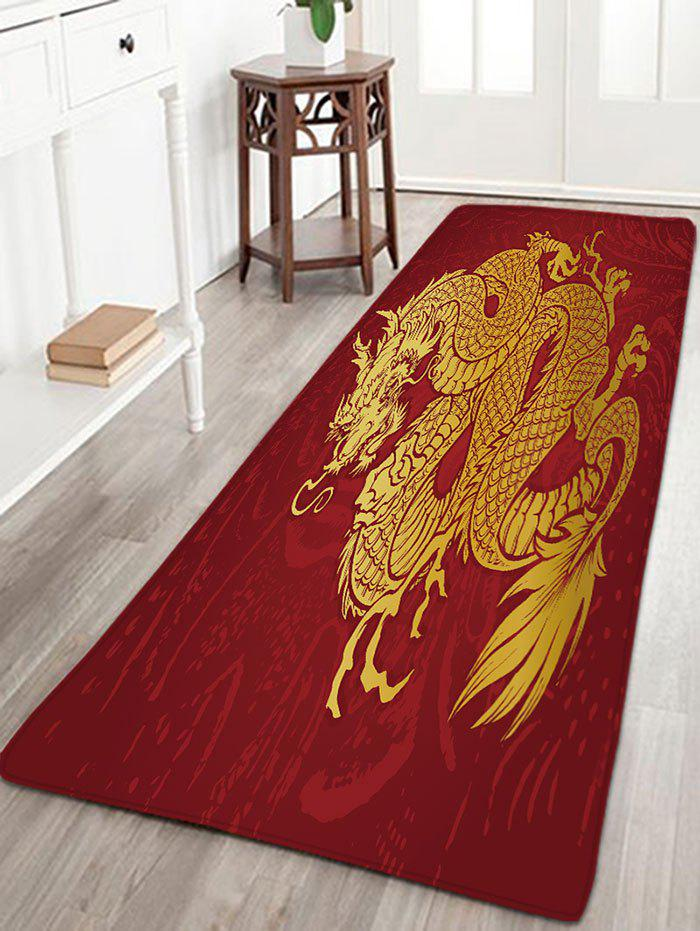 Flannel Skidproof Dragon Printed Bath Rug flannel skidproof bath rug with butterfly print