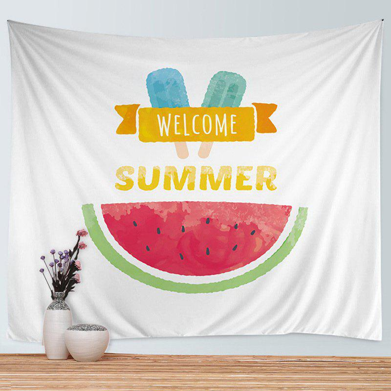 Wall Hanging Art Watermelon Ice Cream Print Tapestry - COLORMIX W79 INCH * L59 INCH
