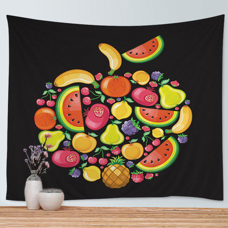 Cartoon Fruits Print Tapestry Wall Hanging Art Decoration - COLORMIX W59 INCH * L51 INCH
