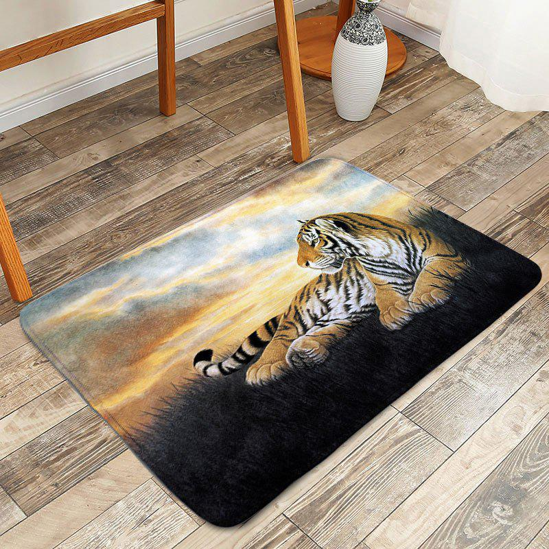 Tapis de bain anti-glissement Tiger Animal Floor - multicolorcolore W20 INCH * L31.5 INCH