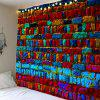 Colorful Brick Print Wall Art Tapestry - COLORFUL W71 INCH * L71 INCH