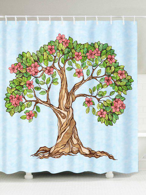 Waterproof Floral Tree Of Life Shower Curtain