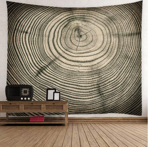 Wall Art Tree Growth Ring Bedspread Tapestry - WOOD W59 INCH * L59 INCH