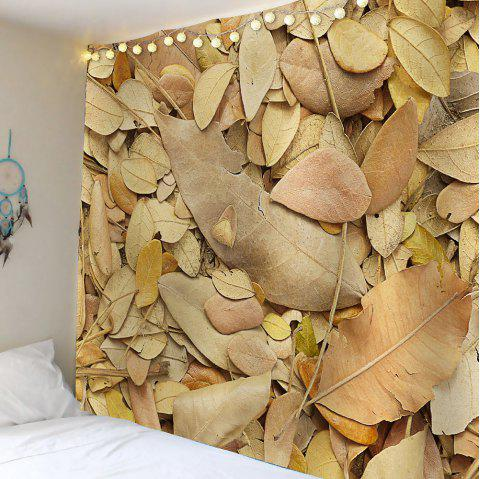Fallen Leaves Waterproof Wall Tapestry - KHAKI W59 INCH * L59 INCH