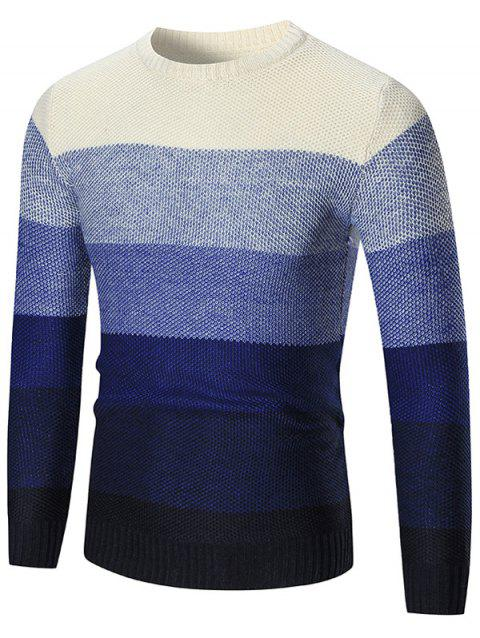 Chantail Pull-over Ombre à Col Rond - Bleu XL