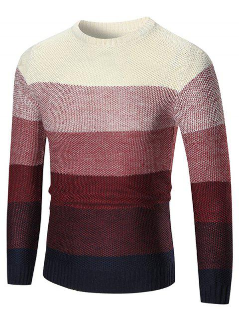 Chantail Pull-over Ombre à Col Rond - Rouge XL