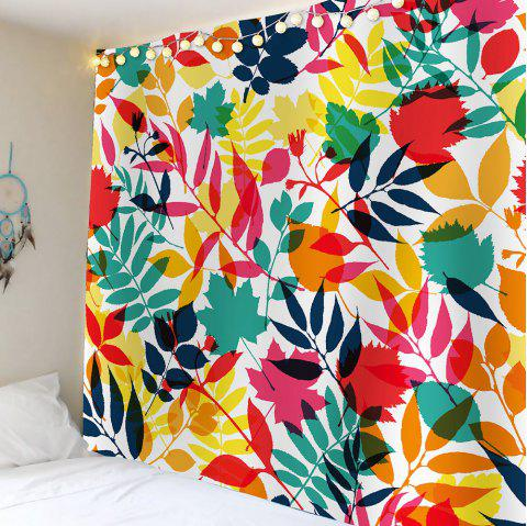 Tropical Leaves Waterproof Wall Tapestry - COLORFUL W59 INCH * L59 INCH