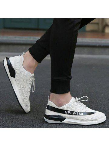Mesh Color Block Low-Top Sneakers