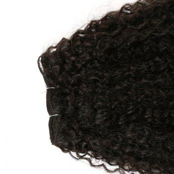 Fluffy Medium Afro Kinky Curly Synthetic Hair Weft - BLACK