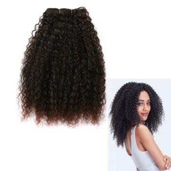 Fluffy Medium Afro Kinky Curly Synthetic Hair Weft