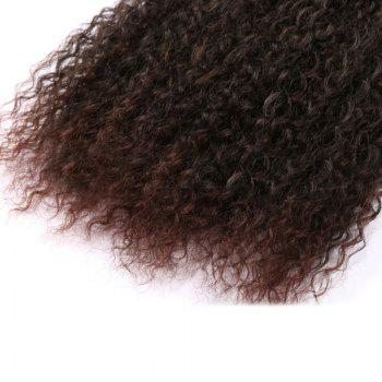 Fluffy Medium Afro Kinky Curly Synthetic Hair Weft - Puce Foncé