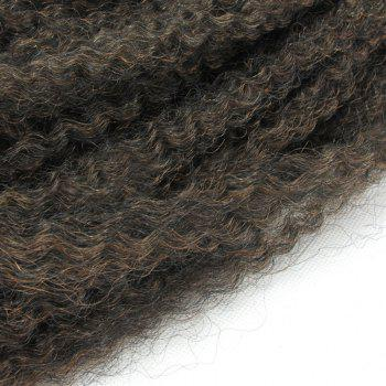 Long Colormix Fluffy Afro Kinky Curly Synthetic Hair Weft - GRADUAL BROWN