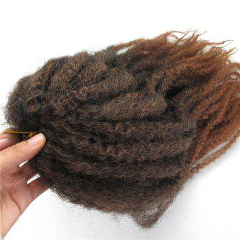 Long Colormix Fluffy Afro Kinky Curly Synthetic Hair Weft -  DEEP BROWN