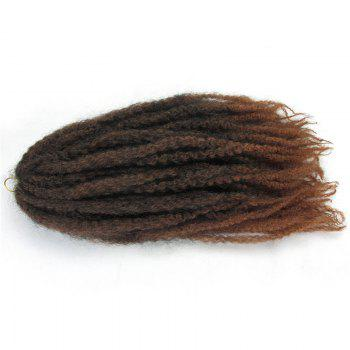 Long Colormix Fluffy Afro Kinky Curly Synthetic Hair Weft - DEEP BROWN DEEP BROWN