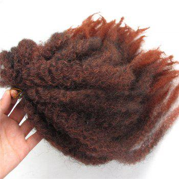 Long Colormix Fluffy Afro Kinky Curly Synthetic Hair Weft -  JACINTH