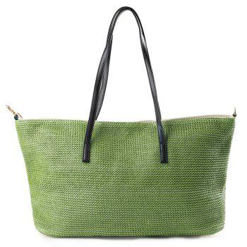 Straw Woven Shopper Bag