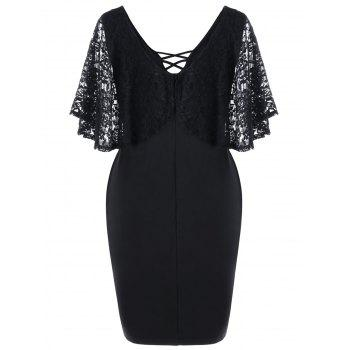 Robe Bodycon - Noir 5XL