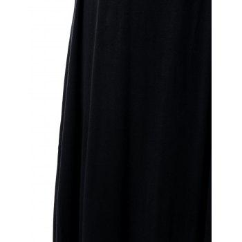 Robe Maxi taille imperméable Empire taille taille grande - Noir 5XL
