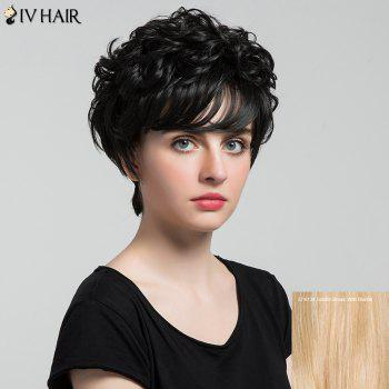 Siv Hair Short Inclined Bang Shaggy Curly Layered Human Hair Wig