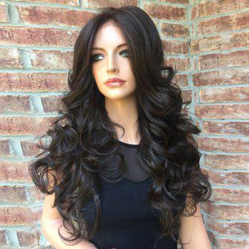 Middle Part Shaggy Long Body Wave Synthetic Wig