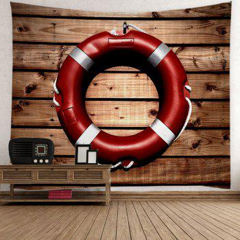 Wood Grain Tyre Print Wall Art Tapestry - BROWN W59 INCH * L51 INCH
