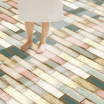 Wood Stone Self Adhesive Floor Sticker -  COLORFUL