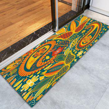 Bohemian Floral Printed Flannel Skidproof Rug - W16 INCH * L47 INCH W16 INCH * L47 INCH