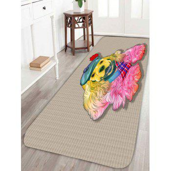 Coral Fleece Golden Retriever Home Area Rug - APRICOT APRICOT