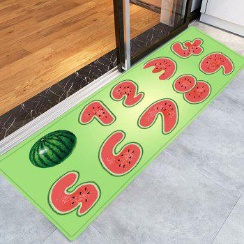 Watermelon Number Pattern Indoor Outdoor Area Rug - W16 INCH * L47 INCH W16 INCH * L47 INCH