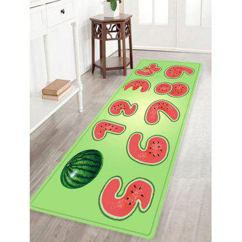 Watermelon Number Pattern Indoor Outdoor Area Rug - COLORMIX W16 INCH * L47 INCH