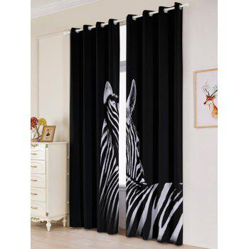 2 Panel Zebra Blackout Thermal Insulated Window Curtain - W53 INCH * L84.5 INCH W53 INCH * L84.5 INCH