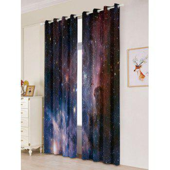 2 Pcs Blackout Universe Space Window Curtains - W53 INCH * L84.5 INCH W53 INCH * L84.5 INCH