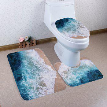 3Pcs/Set Seawater Antislip Mats For Bathroom Decor