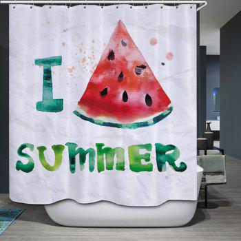 Watermelon Summer Pattern Fabric Bathroom Shower Curtain - W59 INCH * L71 INCH W59 INCH * L71 INCH