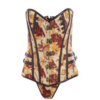 Sweetheart Lace Up Steampunk Corset Top