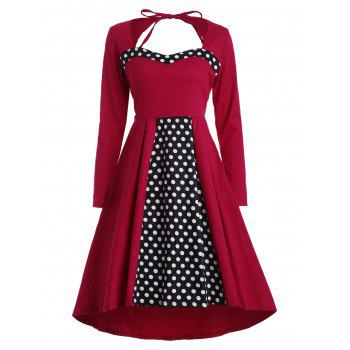 Plus Size Asymmetric Vintage Dress with Sleeves