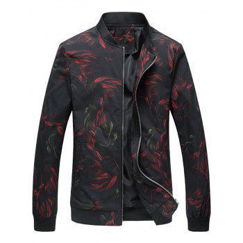 Cock Print Slim Fit Jacket