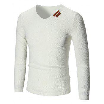 V Neck See Through Pullover Sweater