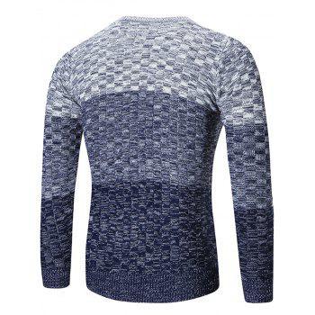 Chemisier à encolure Ombre Sweater - Bleu M