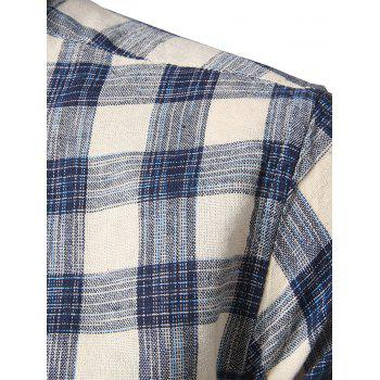 Long Sleeve Plaid Button-Down Shirt - 3XL 3XL